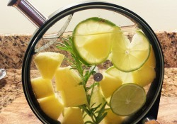 lime pineapple rosemary infused tequila
